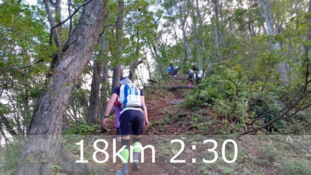ハマコーが好きな トレランコース 32 18km 2:30
