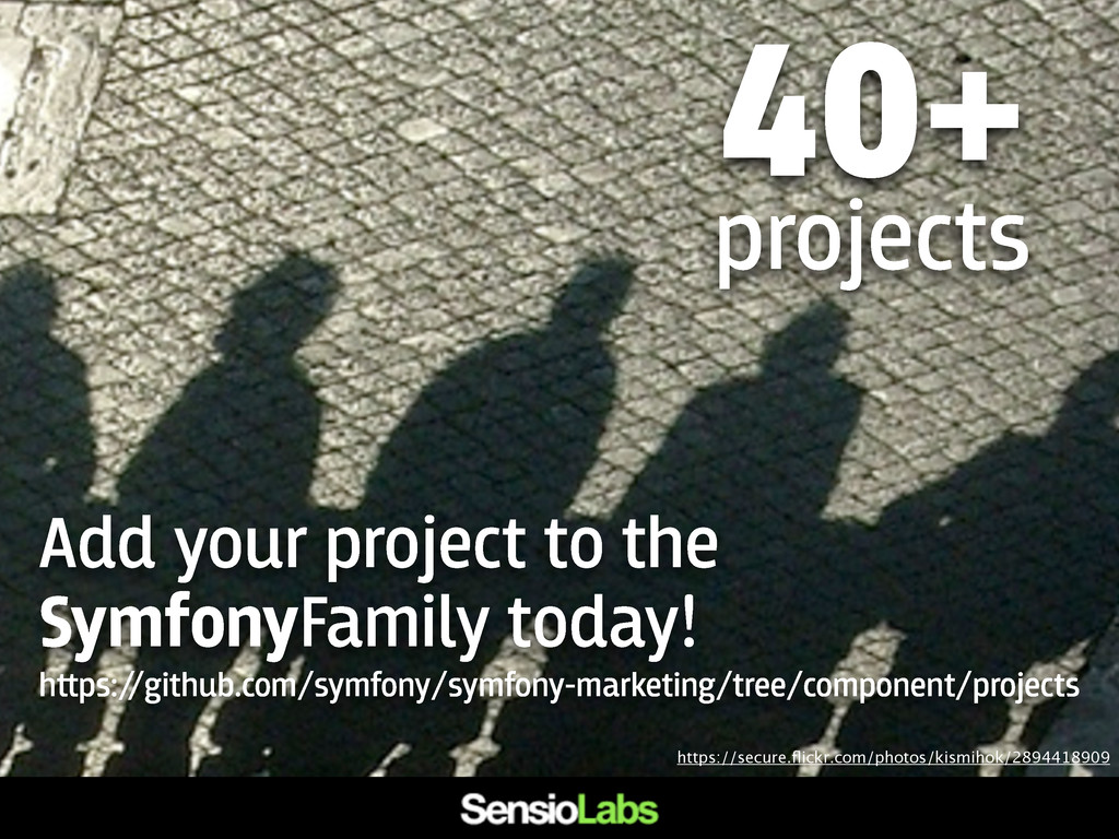Add your project to the SymfonyFamily today! h﬙...