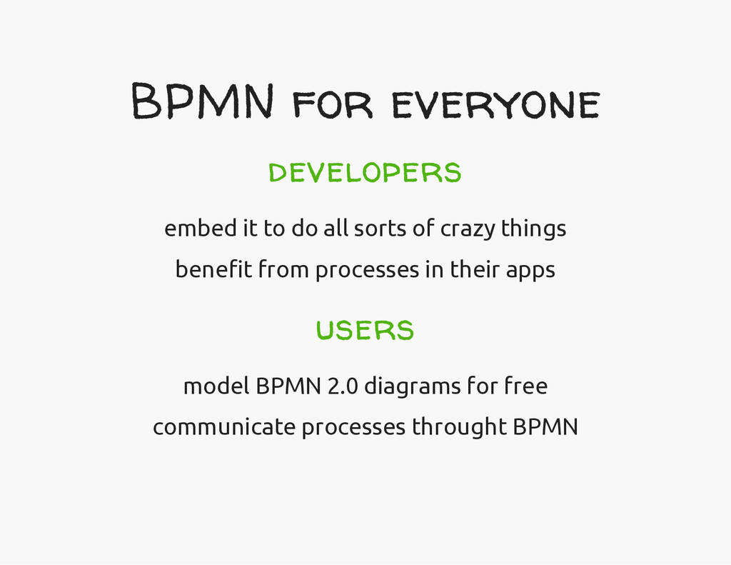 BPMN for everyone developers embed it to do all...