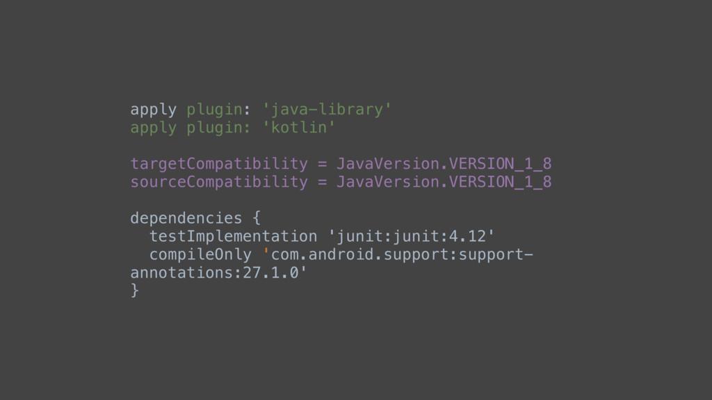 apply plugin: 'java-library' apply plugin: 'kot...