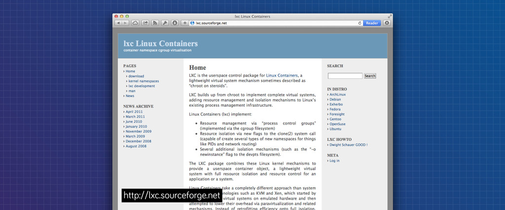 http://lxc.sourcefor e.net