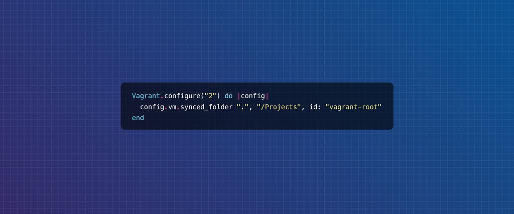 "Vagrant.configure(""2"") do |config| config.vm.sy..."