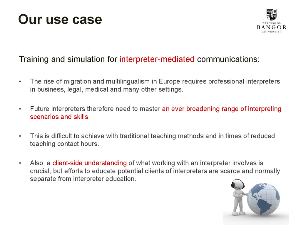 Our use case Training and simulation for interp...