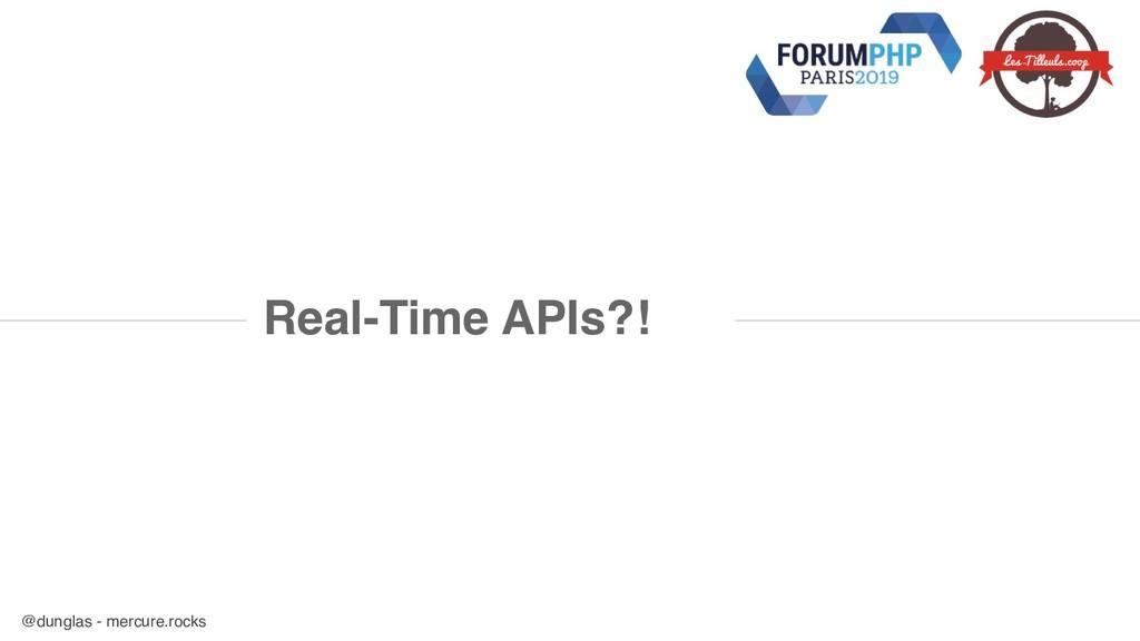@dunglas - mercure.rocks Real-Time APIs?!