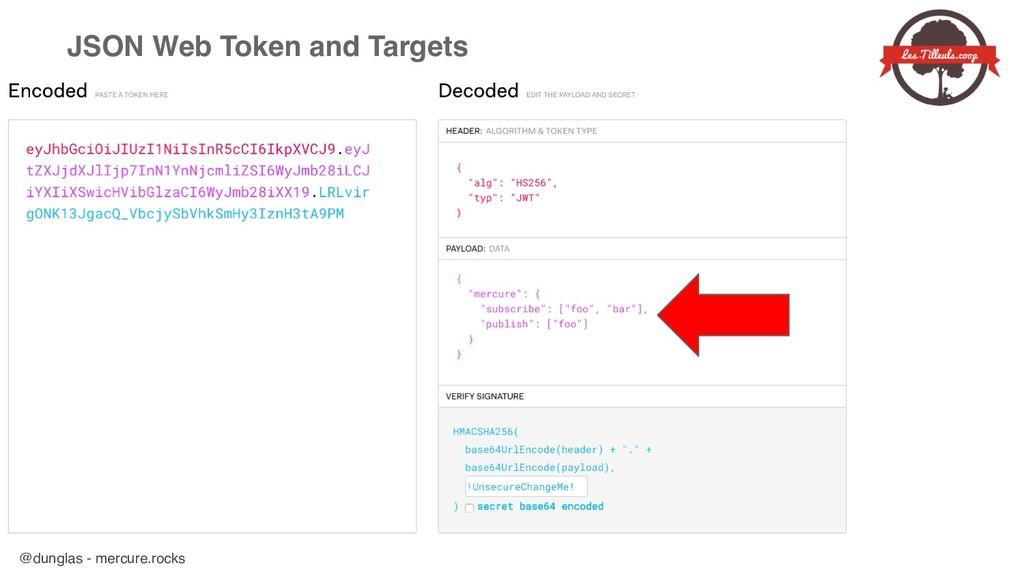 @dunglas - mercure.rocks JSON Web Token and Tar...
