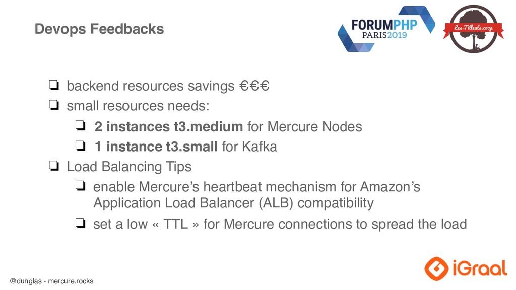 @dunglas - mercure.rocks Devops Feedbacks ❏ bac...