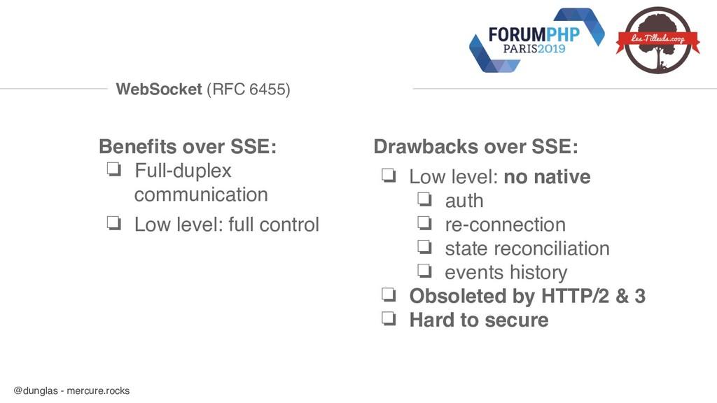 @dunglas - mercure.rocks WebSocket (RFC 6455) B...