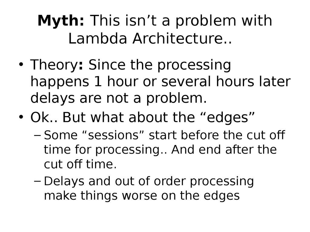 Myth: This isn't a problem with Lambda Architec...