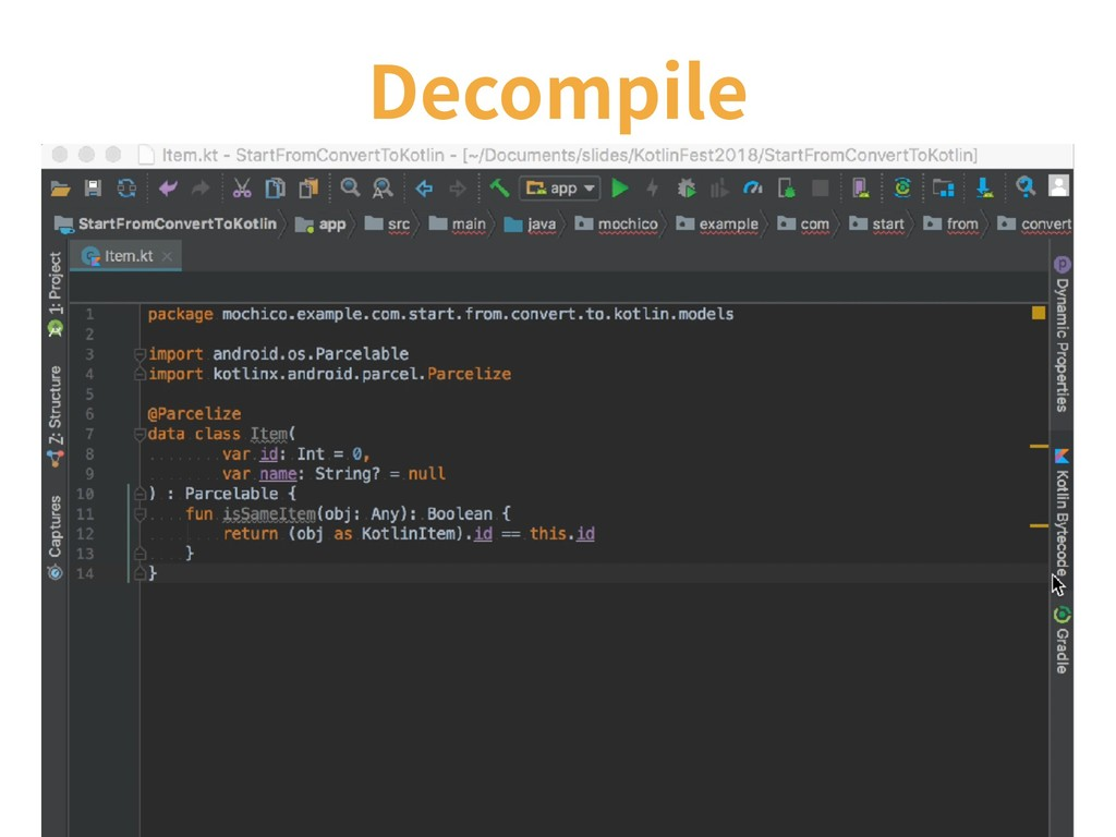 Decompile