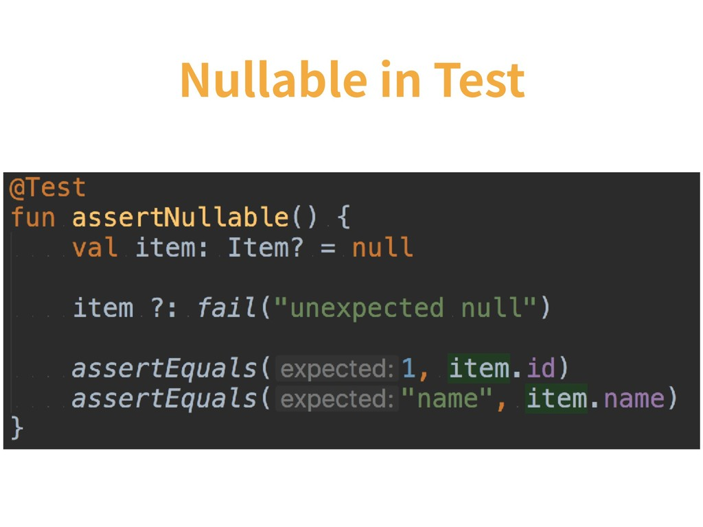 Nullable in Test
