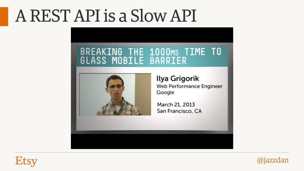 @jazzdan A REST API is a Slow API