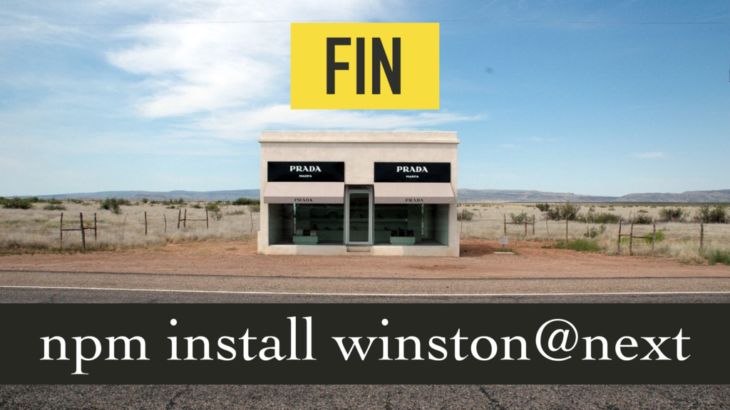 FIN  npm install winston@next