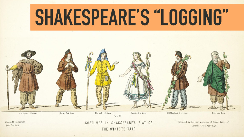 "SHAKESPEARE'S ""LOGGING"""