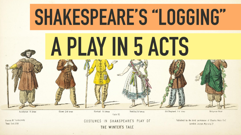 "SHAKESPEARE'S ""LOGGING""  A PLAY IN 5 ACTS"