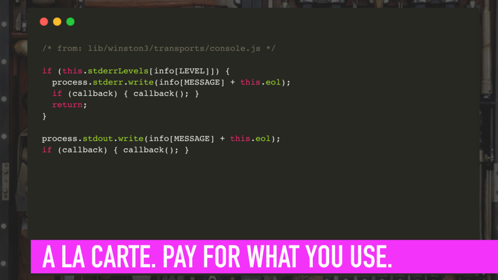 INTRODUCE FORMATS A LA CARTE. PAY FOR WHAT YOU ...