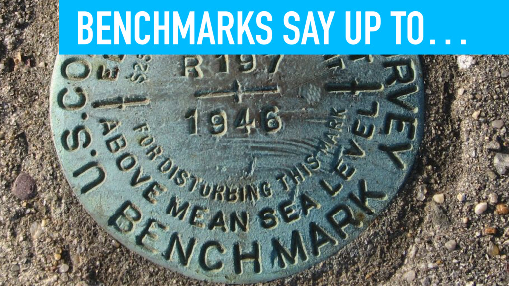 BENCHMARKS SAY UP TO…