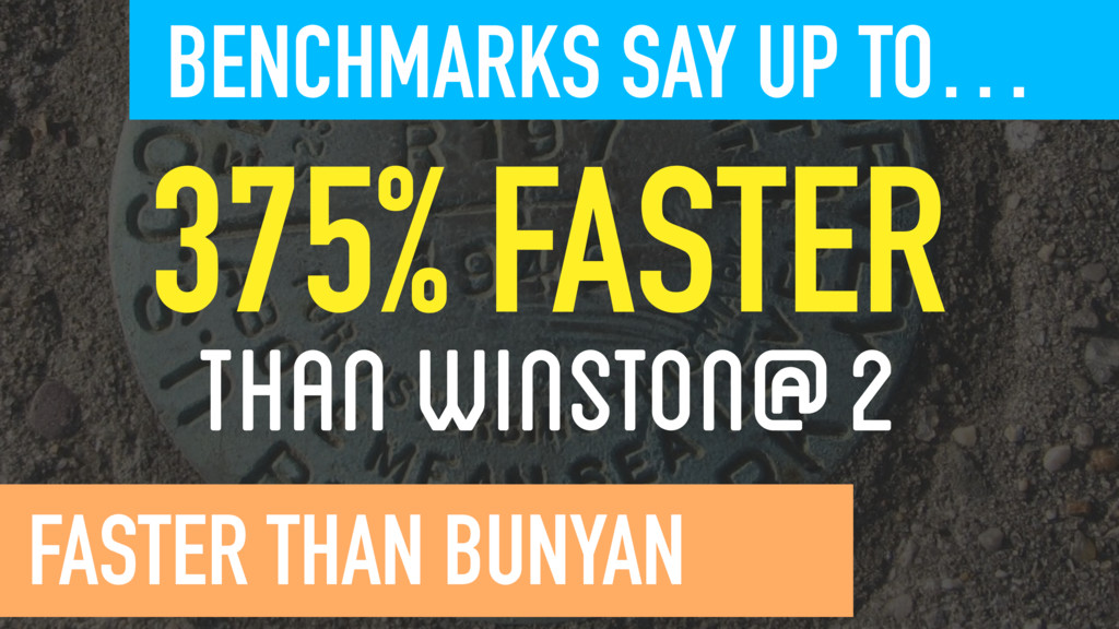 375% FASTER THAN WINSTON@2  BENCHMARKS SAY U...