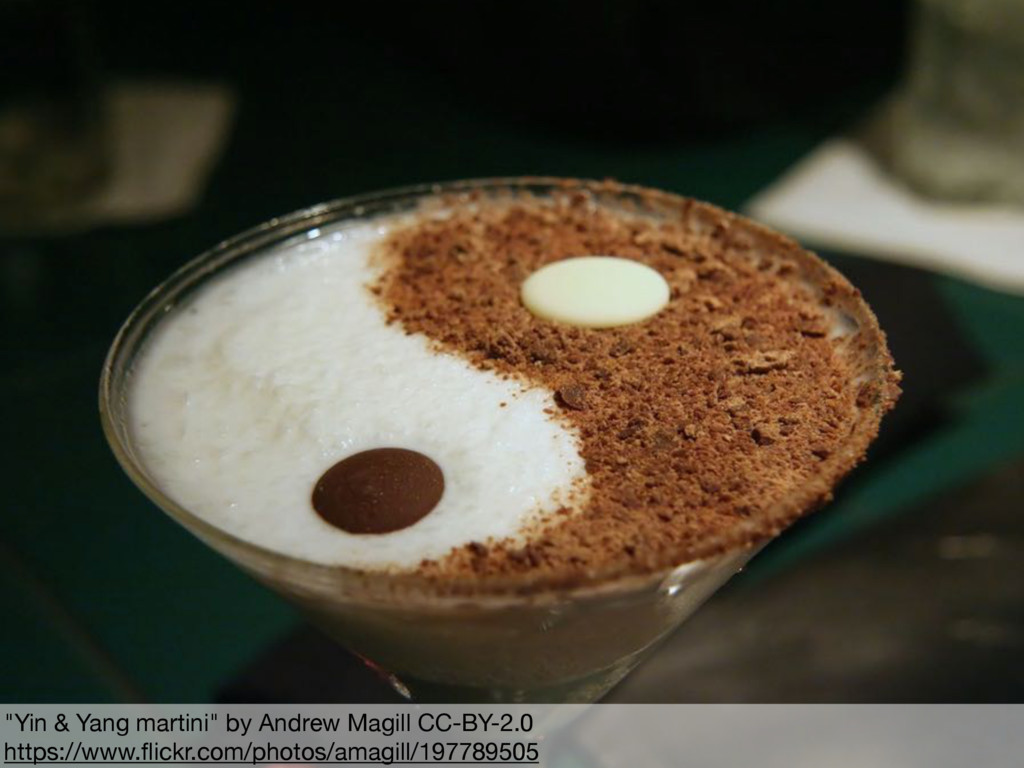 """""""Yin & Yang martini"""" by Andrew Magill CC-BY-2.0..."""