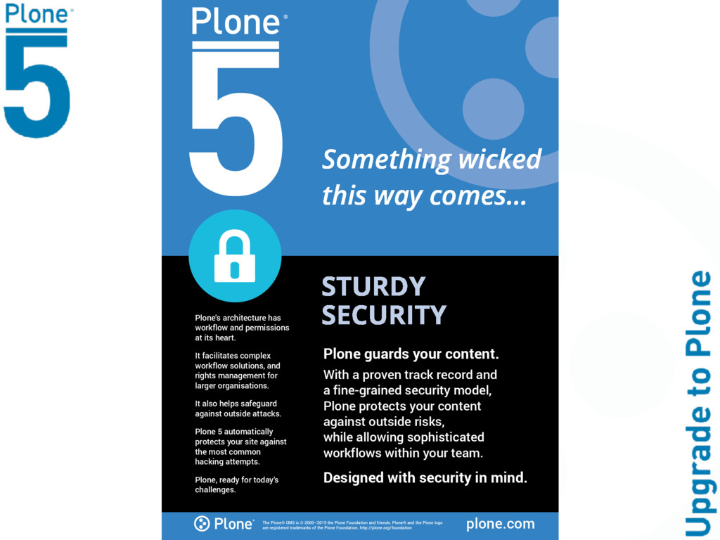 The Plone® CMS is © 2000–2015 the Plone Foundat...