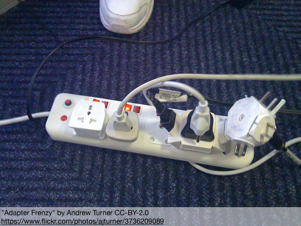 """""""Adapter Frenzy"""" by Andrew Turner CC-BY-2.0  ht..."""