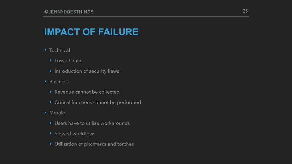 @JENNYDOESTHINGS IMPACT OF FAILURE ‣ Technical ...