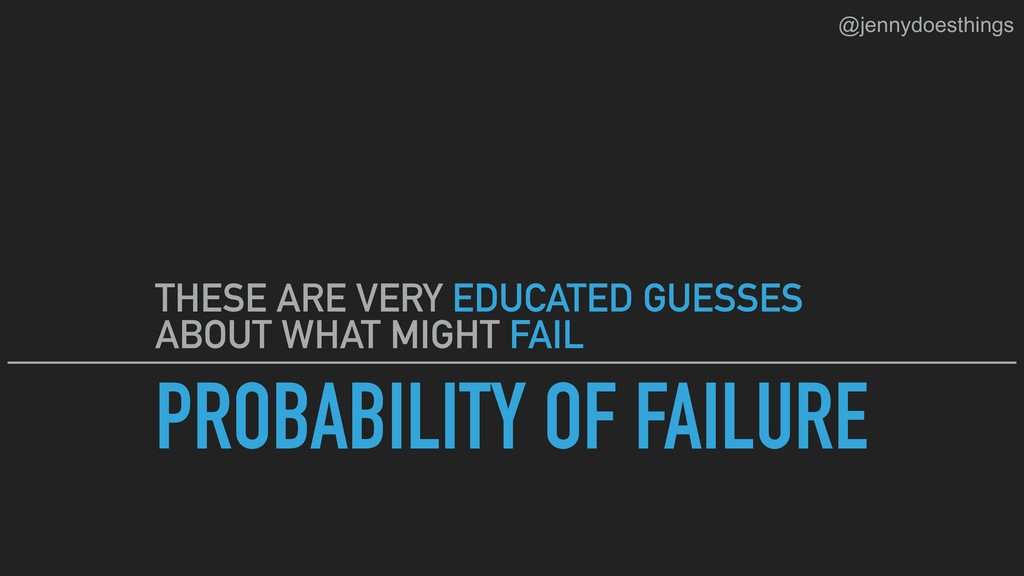 PROBABILITY OF FAILURE THESE ARE VERY EDUCATED ...