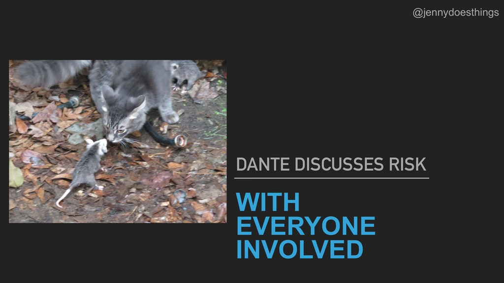 WITH EVERYONE INVOLVED  DANTE DISCUSSES RISK @...