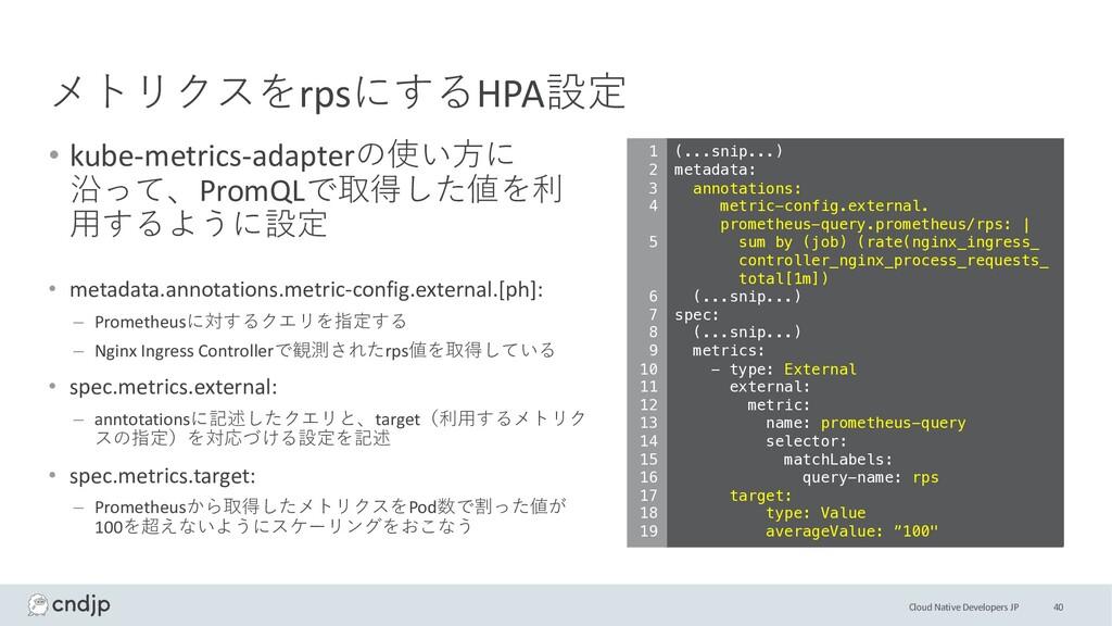 Cloud Native Developers JP メトリクスをrpsにするHPA設定 • ...
