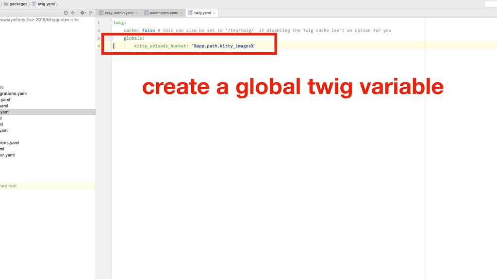 create a global twig variable