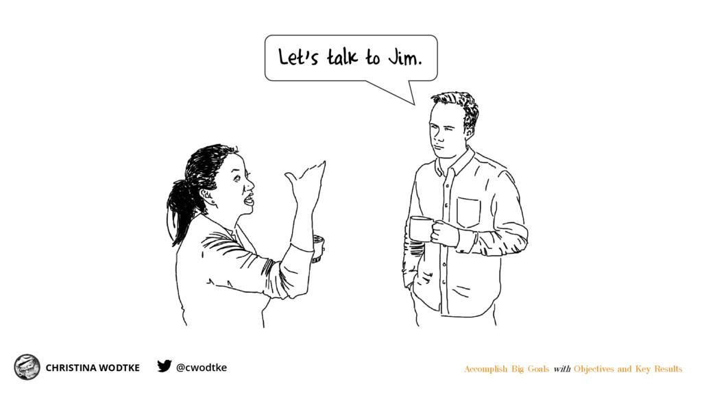 CHRISTINA WODTKE Let's talk to Jim. Accomplish ...