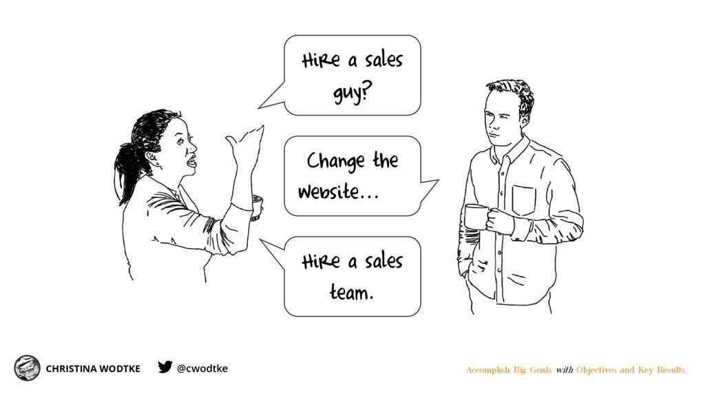 CHRISTINA WODTKE Hire a sales guy? Change the w...