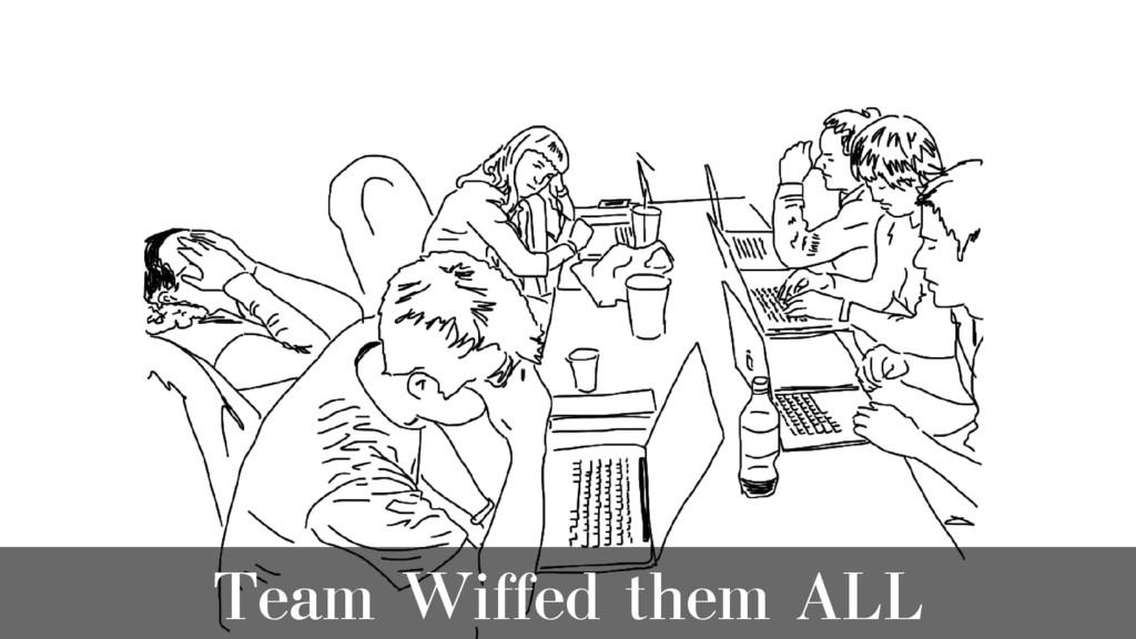 Team Wiffed them ALL
