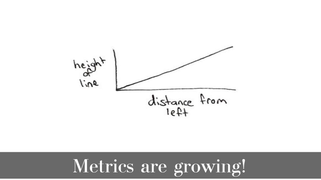 Metrics are growing!