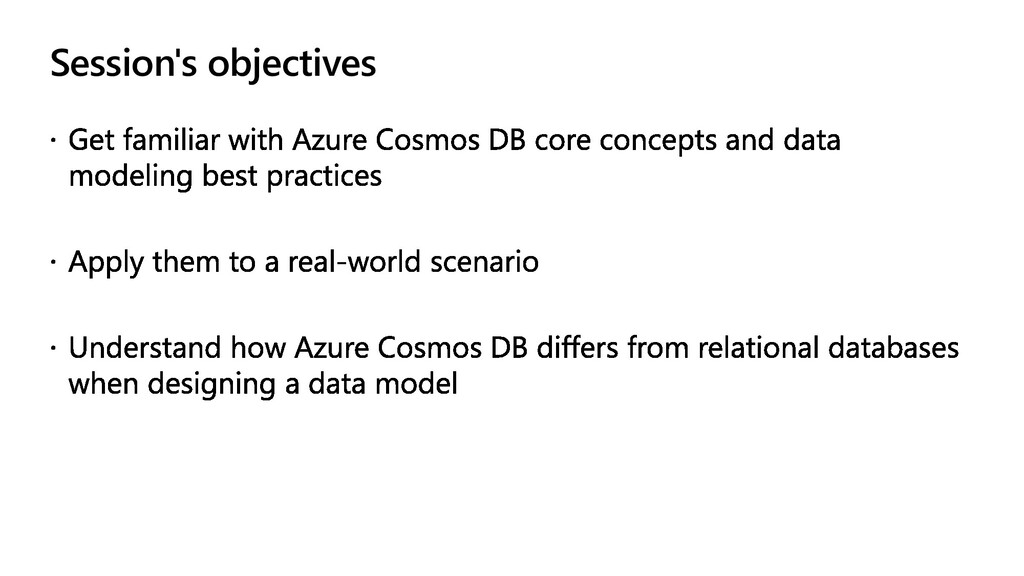 Session's objectives