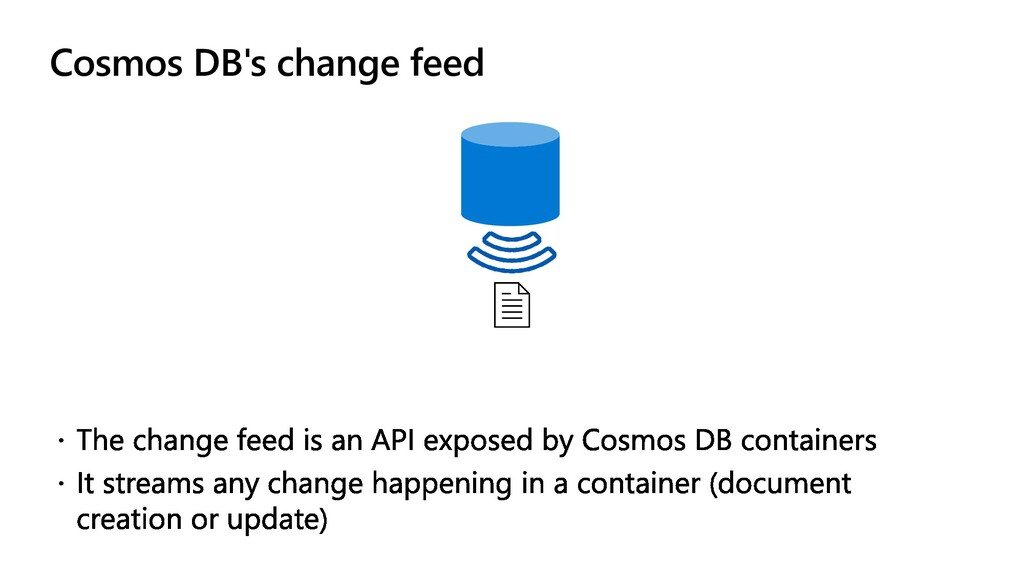Cosmos DB's change feed