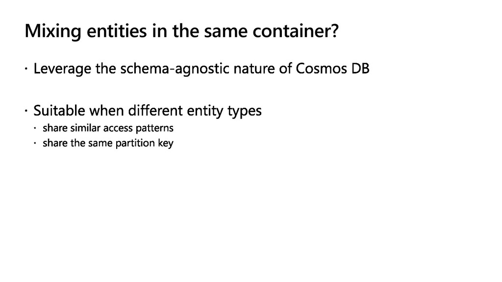 Mixing entities in the same container?