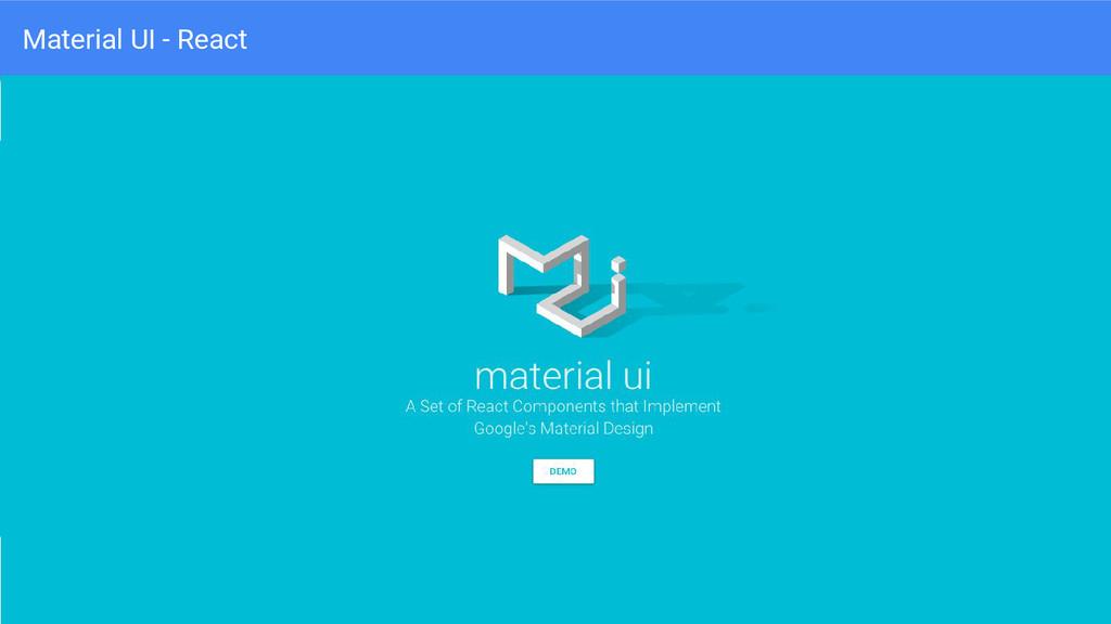 Material UI - React