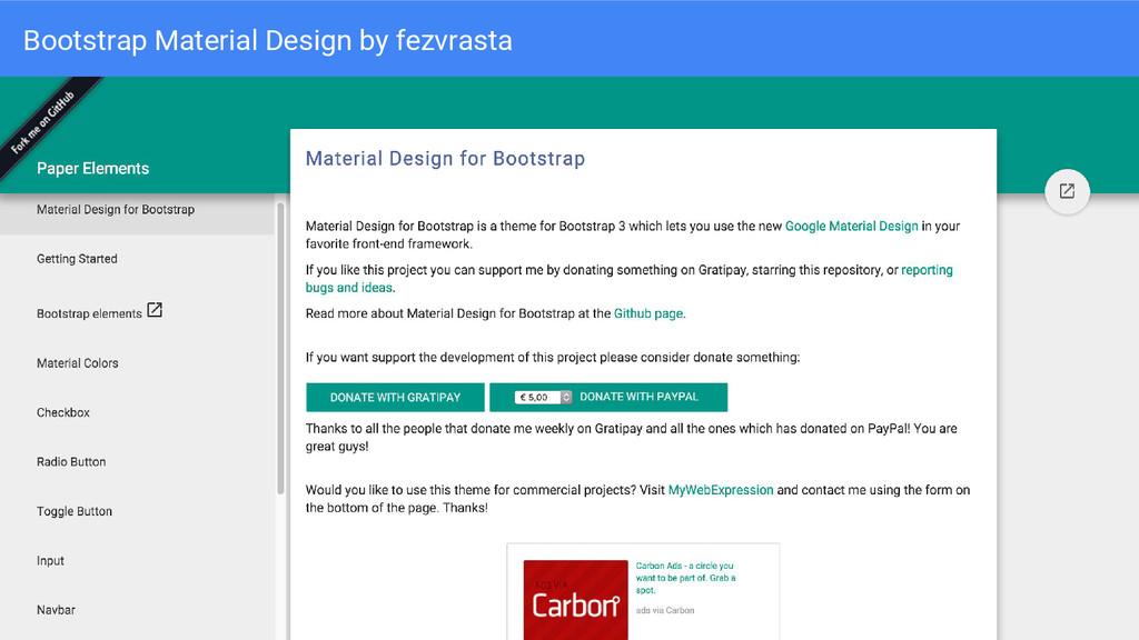 Bootstrap Material Design by fezvrasta