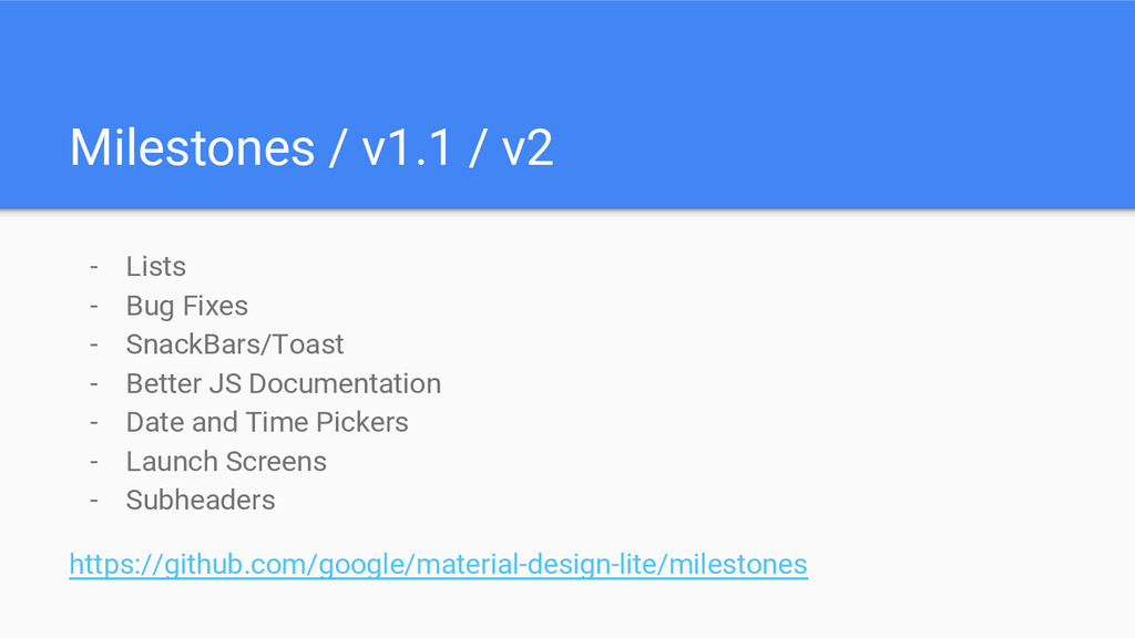 - Lists - Bug Fixes - SnackBars/Toast - Better ...