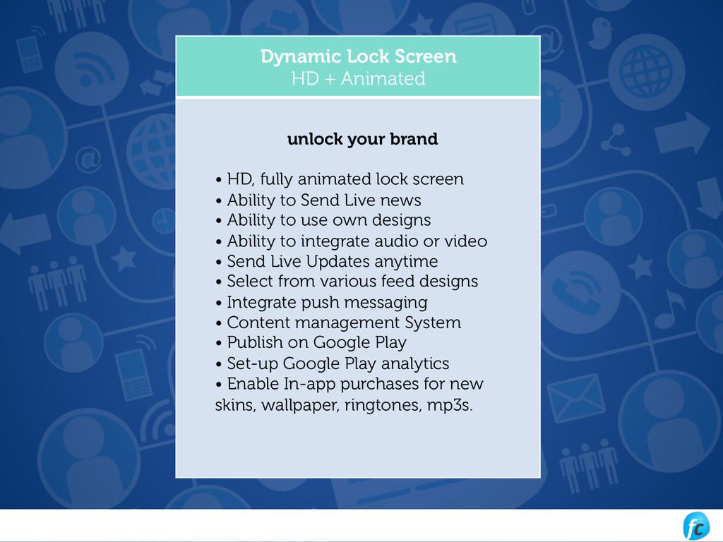Dynamic Lock Screen HD + Animated unlock your b...