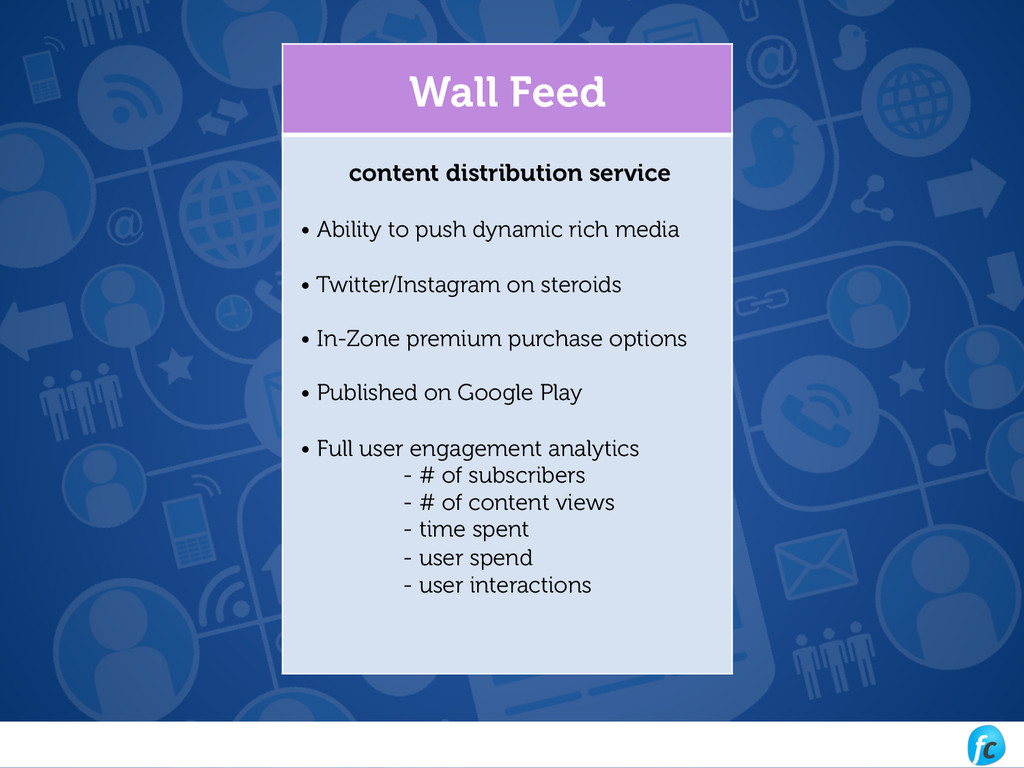 Wall Feed content distribution service • Abilit...