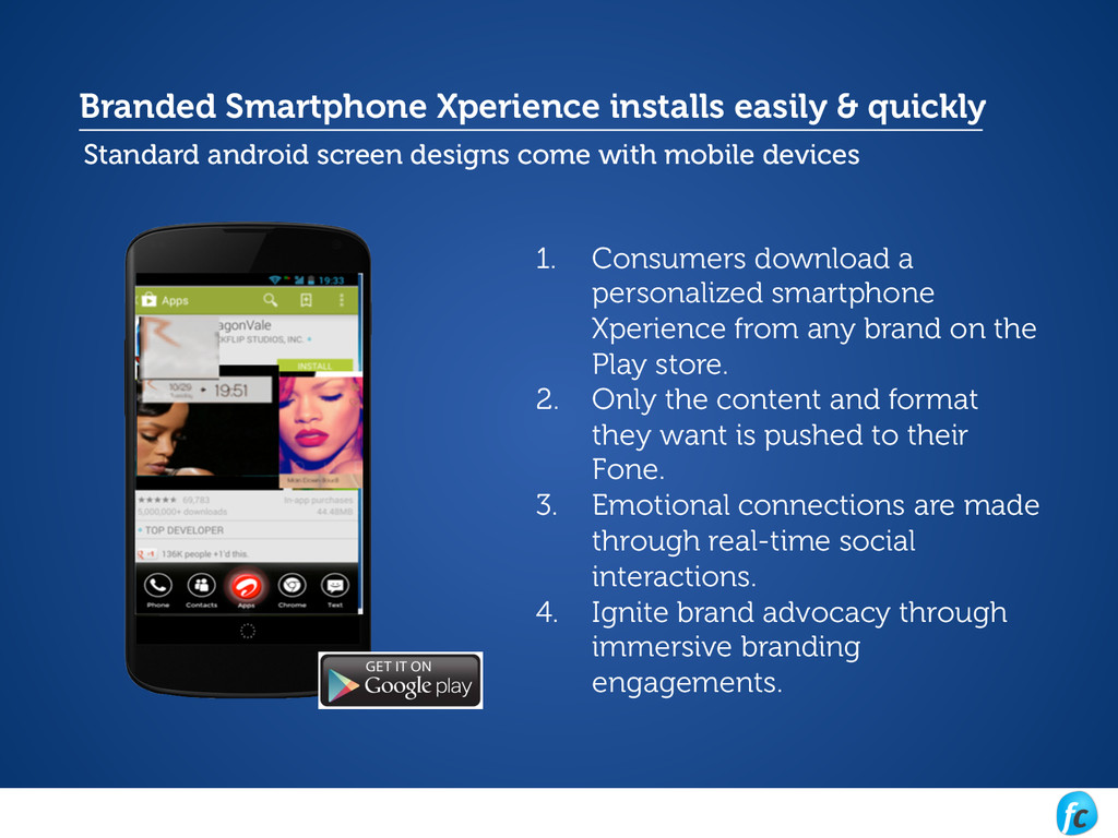 Branded Smartphone Xperience installs easily & ...