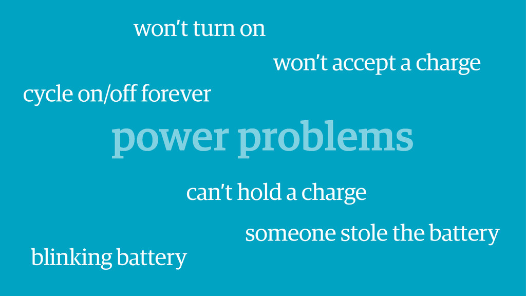 power problems won't accept a charge cycle on/o...