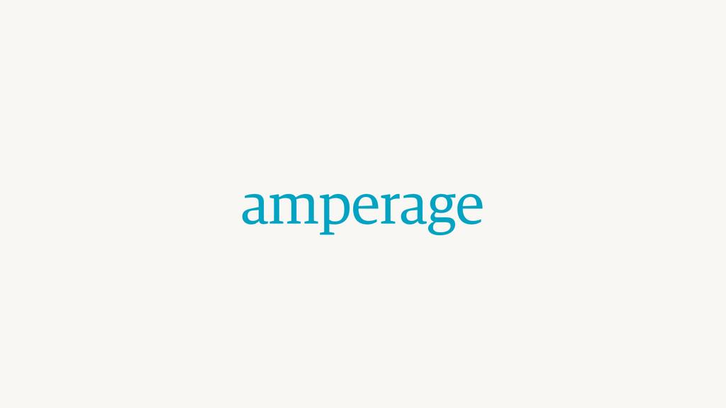 amperage