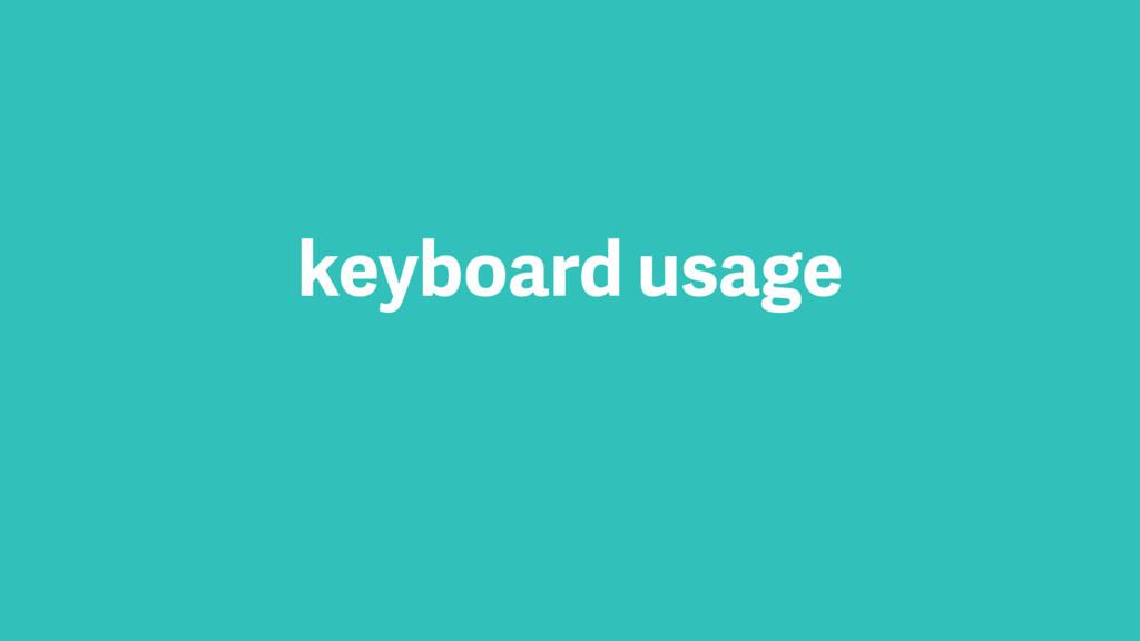 keyboard usage