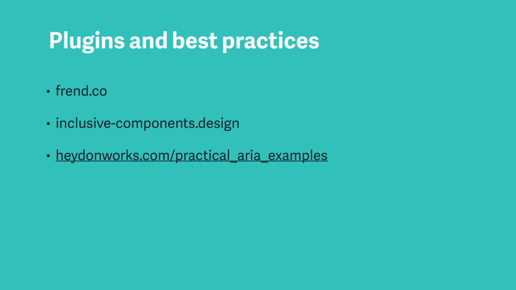 Plugins and best practices • frend.co • inclusi...