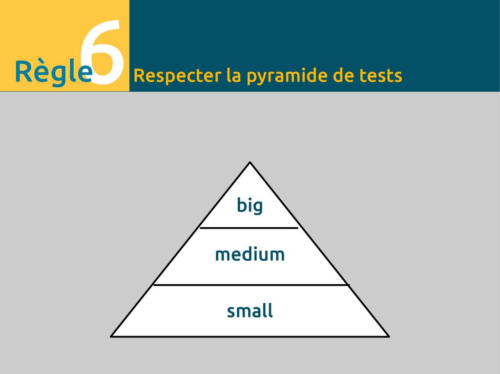 Respecter la pyramide de tests 6 Règle big medi...