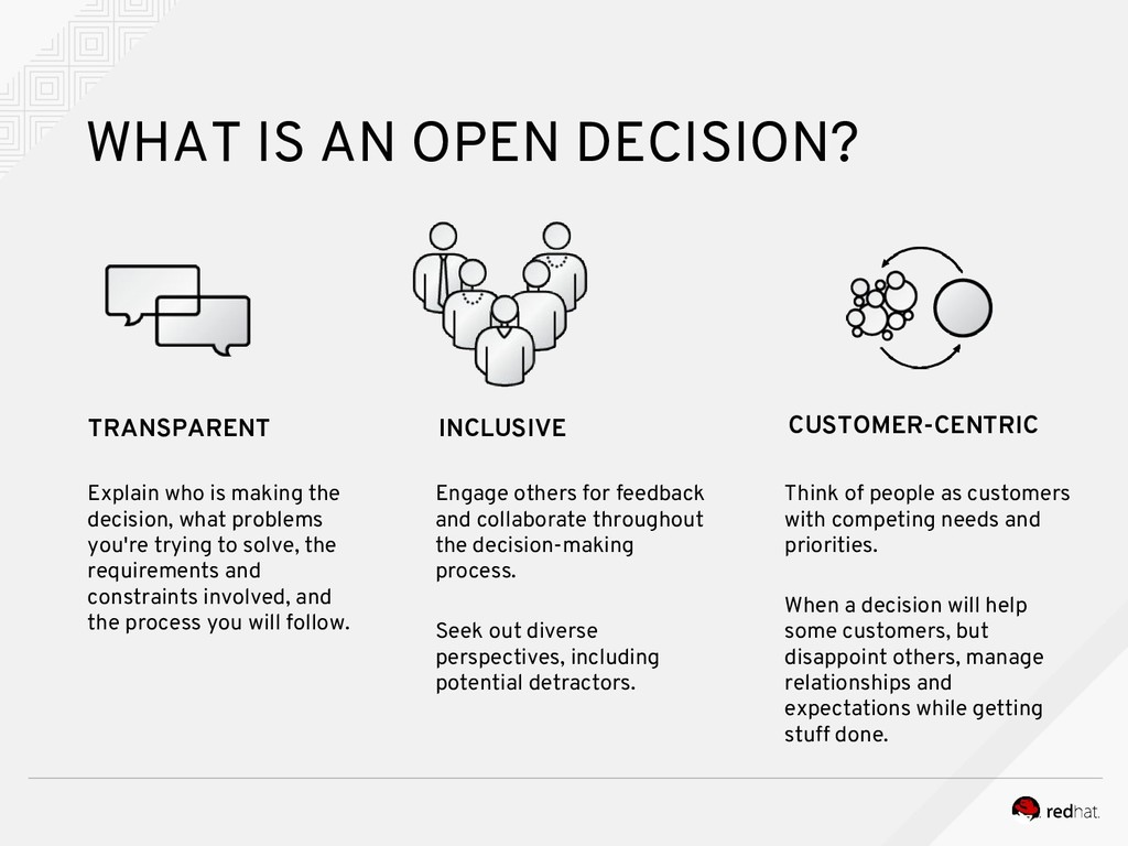 WHAT IS AN OPEN DECISION? TRANSPARENT INCLUSIVE...