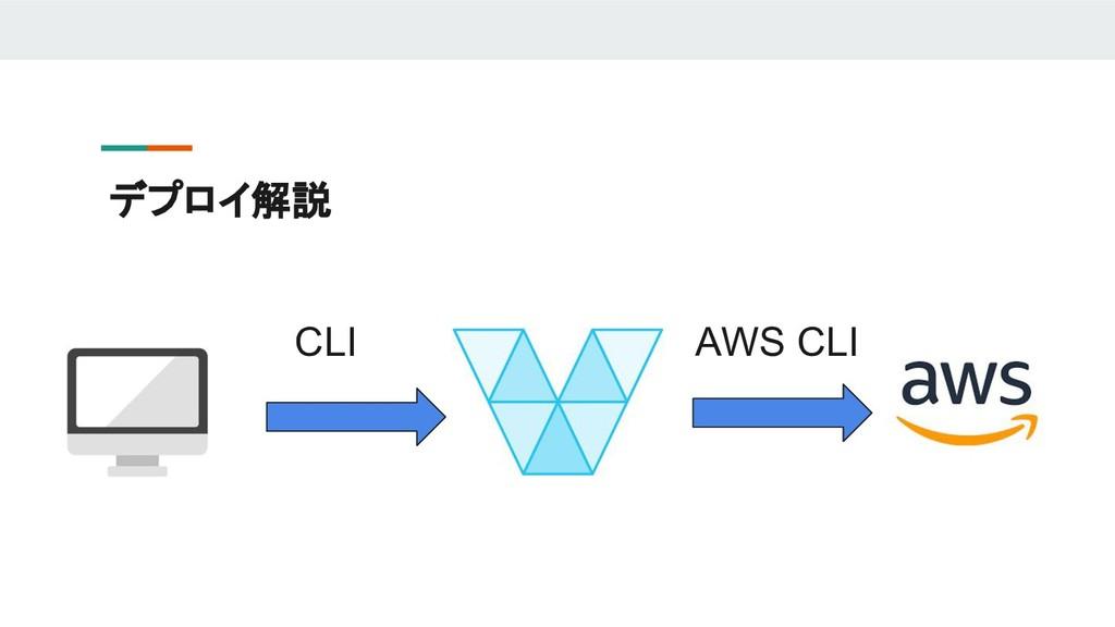 デプロイ解説 CLI AWS CLI