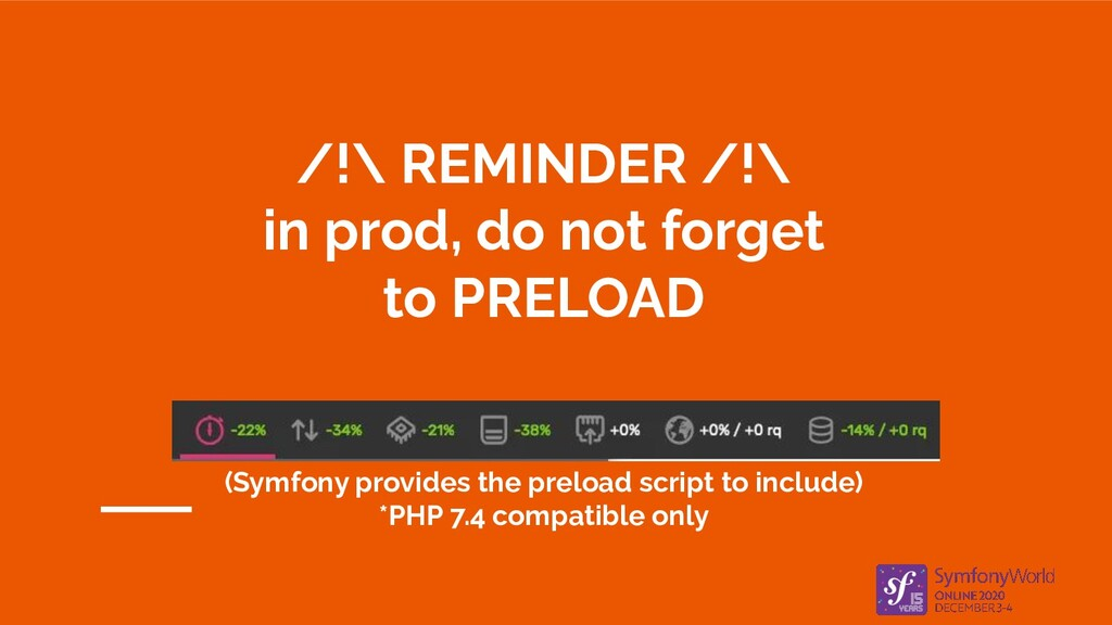 /!\ REMINDER /!\ in prod, do not forget to PREL...